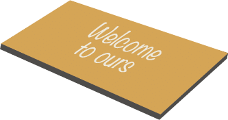 illustration of welcome doormat